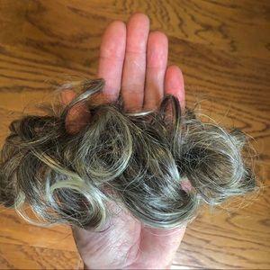 Other - Hair bun. Scrunchie silver grey hair bun.